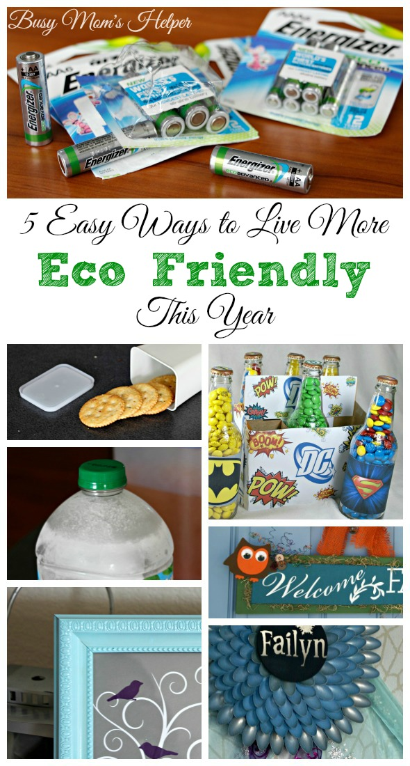 5 Easy Ways to Live More Eco Friendly This Year / by Busy Mom's Helper #BringingInnovation #ad