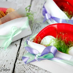 Paper Plate Easter Baskets