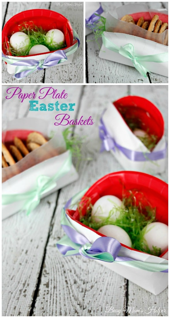 Paper Plate Easter Basket / by Busy Mom\u0027s Helper & Paper Plate Easter Baskets - Busy Mom\u0027s Helper