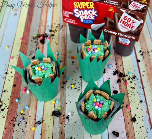 Adorable Easter Pudding Cups / by Busy Mom's Helper #SnackPackMixins #ad