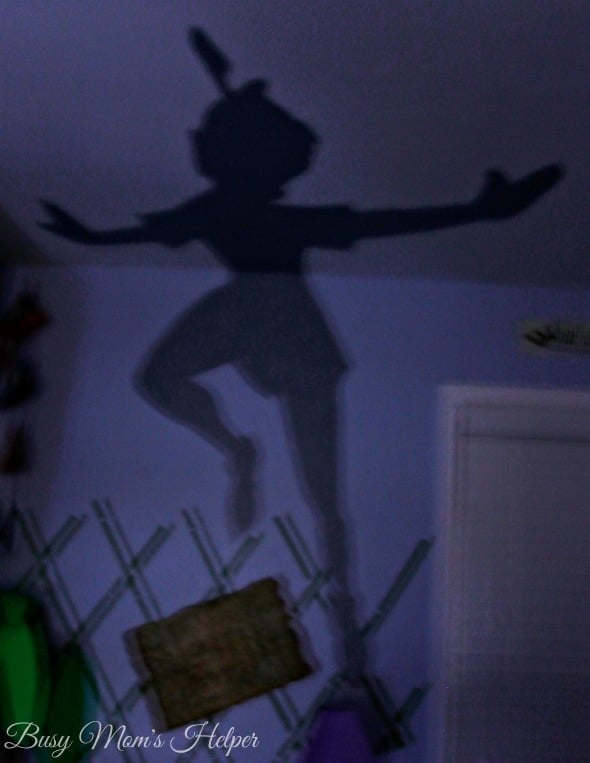 DIY Peter Pan's Shadow Nightlight / by Busy Mom's Helper #SleepAligned #Ad