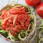 Spiralized Zucchini with Roasted Tomatoes