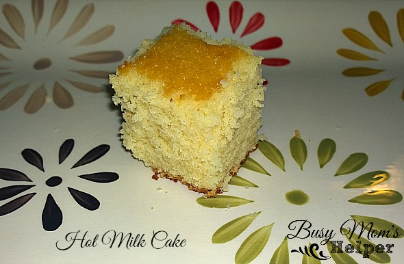Hot Milk Cake by Nikki Christiansen for Busy Moms Helper