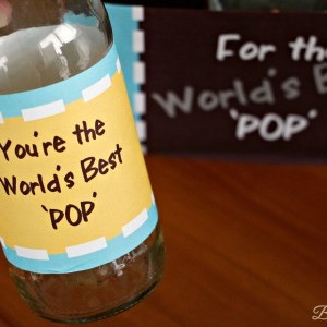 World's Best 'POP' Father's Day Soda Bottle Printables