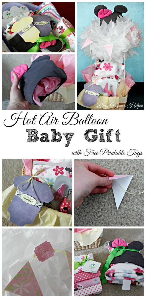 Hot Air Balloon Baby Gift with Free Printable Tags / by Busy Mom's Helper / #TBD #shop