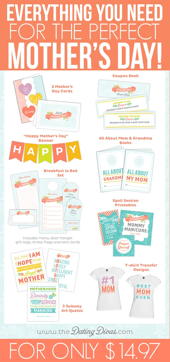 Mother's Day Printable Pack / Busy Mom's Helper via The Dating Divas