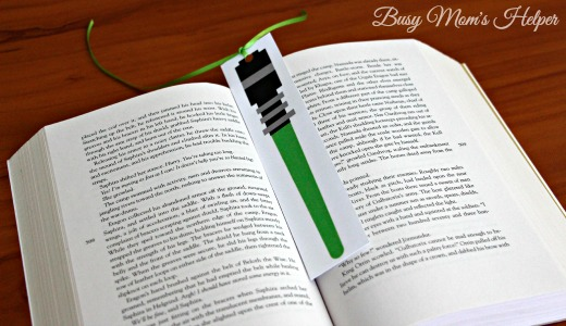 Star Wars Lightsaber Bookmarks Busy Mom S Helper