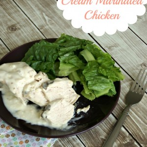 Strawberry Ale Cream Marinated Chicken