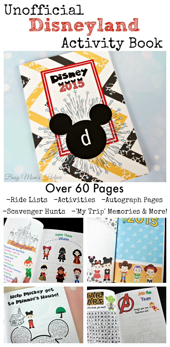 'Unofficial' Disneyland Activity Book 2015 / Available download for only $1.99 / by Busy Mom's Helper