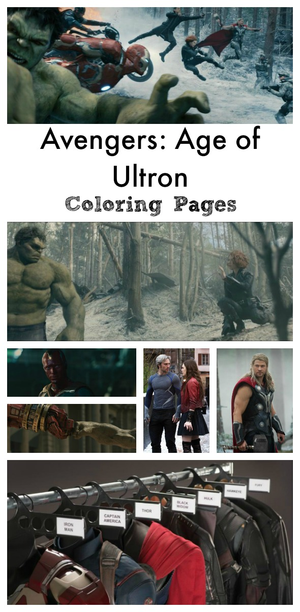Avengers: Age of Ultron Coloring Sheets and Memory Game / Busy Mom's Helper