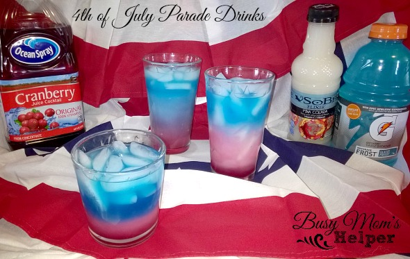 Th Of July Non Alcoholic Layered Drink