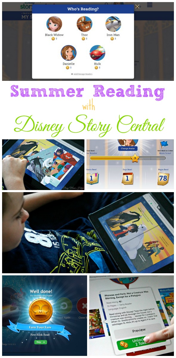 Summer Reading with Disney Story Central / by Busy Mom's Helper #DisneyStoryCentral #CleverGirls #spon