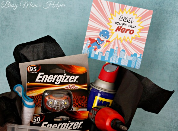 Dad Our Hero: Father's Day Gift Basket / https://busymomshelper.com #DadsMyHero #ad