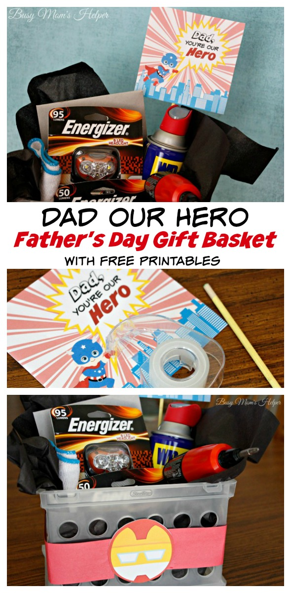 Dad Our Hero: Father's Day Gift Basket / http://busymomshelper.flywheelsites.com #DadsMyHero #ad