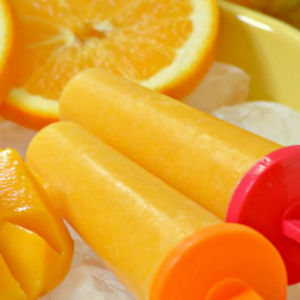 Mango Orange Ice Pops