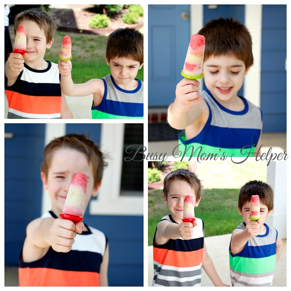 Homemade Fruit and Yogurt Popsicles / http://www.busymomshelper.com #HelloSummerFun #IC #ad