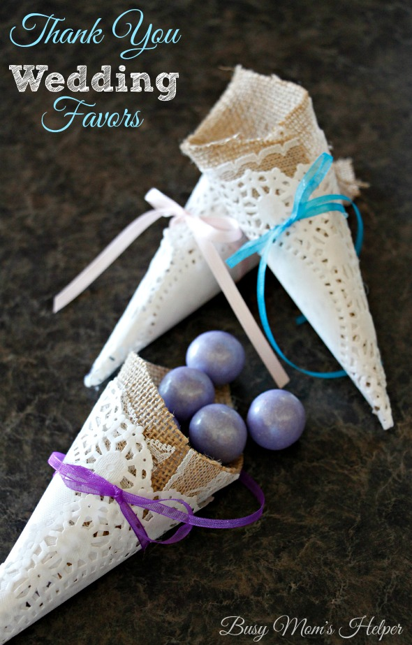Thank You Wedding Favors By Busy Moms Helper