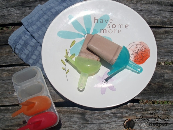 Chocolate fudge ice pops | One Mama's Daily Drama for Busy Mom's Helper --- These popsicles are sweet with just a bit of spice, thanks to a secret ingredient!