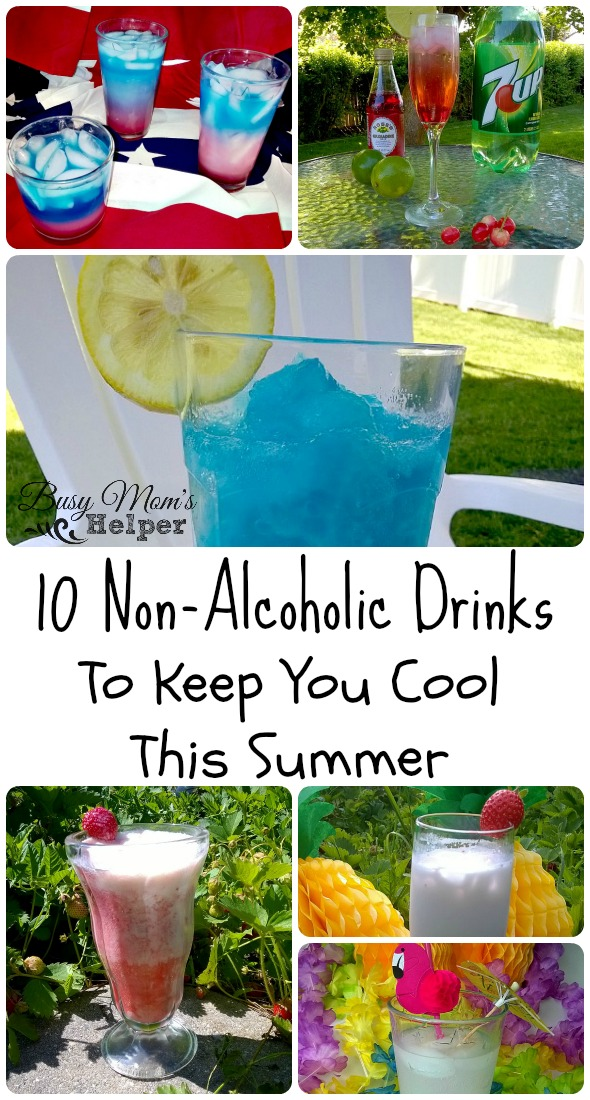 10 Non-Alcoholic Drinks by Nikki Christiansen for Busy Mom's Helper