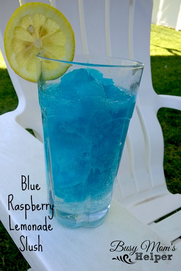 Blue Raspberry Lemonade Slush by Nikki Christiansen for Busy Mom's Helper