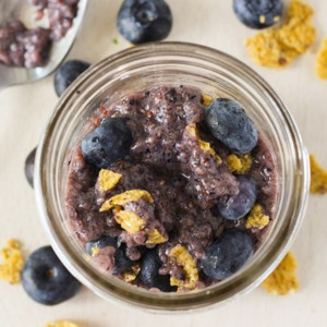 Healthy Blueberry Chia Breakfast Pudding
