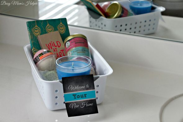 New Home Gift Basket with Free Printable Tags / by Busy Mom's Helper #Feelinvigorated #ad @glade