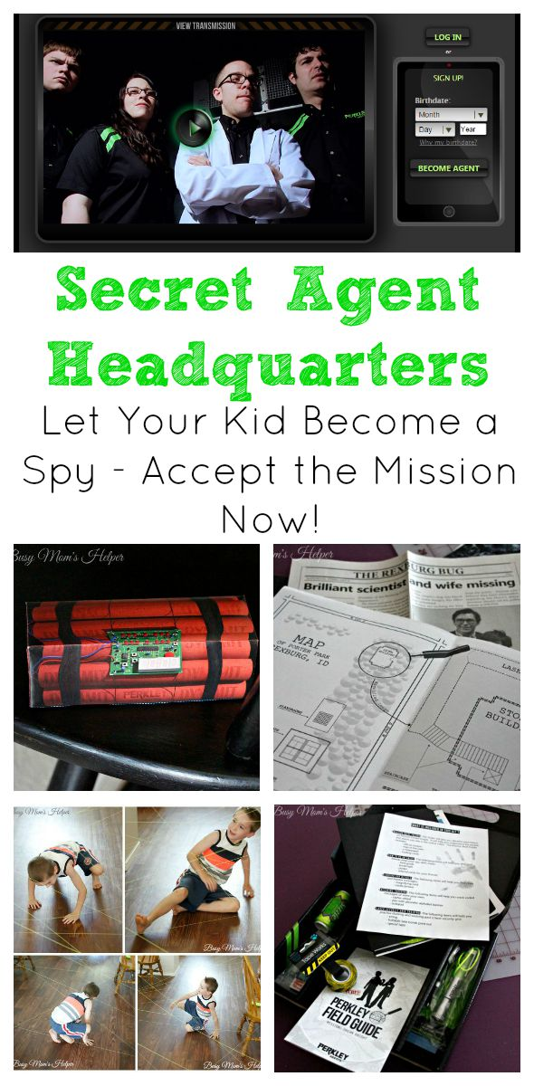 Secret Agent Headquarters: Let Your Kid Become a Spy / by Busy Mom's Helper / Perkley.com #spon