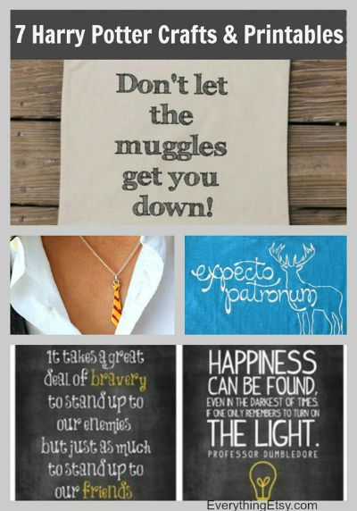 100 diy harry potter ideas busy moms helper 7 harry potter craft ideas printables from everything etsy solutioingenieria Image collections