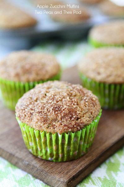 Apple Zucchini Muffins / by Two Peas and Their Pod / Round up by Busy Mom's Helper