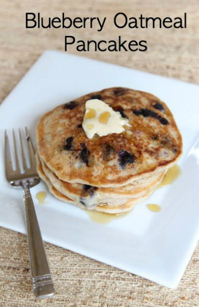 Blueberry Oatmeal Pancakes / by 5 Dollar Dinners / Round up on Carrie Elle