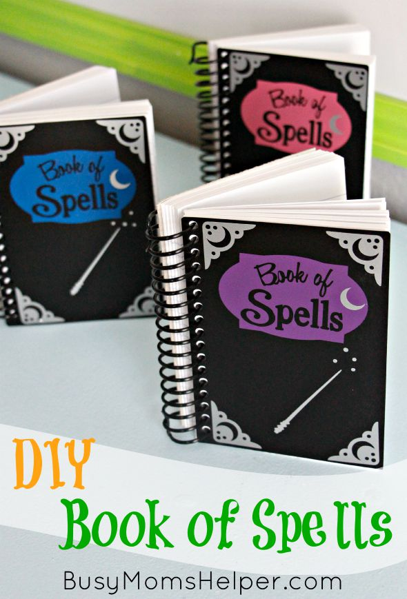 100 diy harry potter ideas busy moms helper diy book of spells harry potter wizards magic halloween craft lightning solutioingenieria Image collections