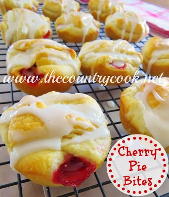 Cherry Pie Bites / by The Country Cook / Round up on Carrie Elle