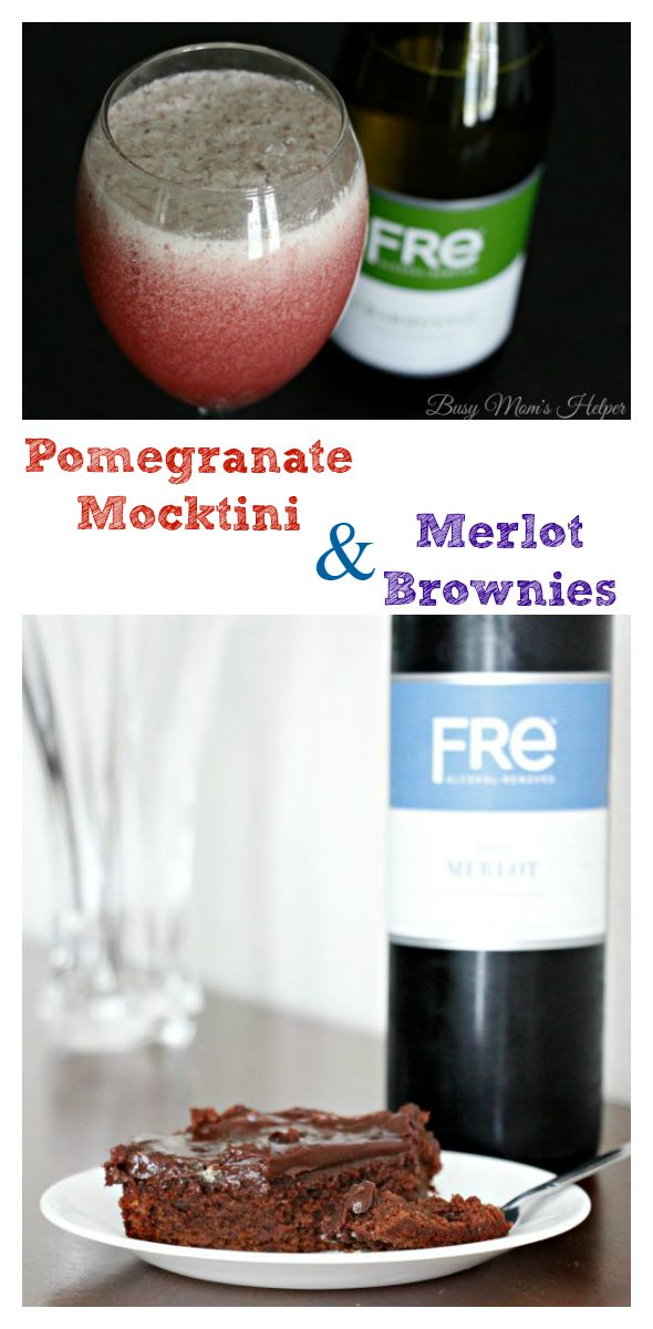 Pomegranate Mocktini & Merlot Brownies / by Busy Mom's Helper #SipSmarter #ad