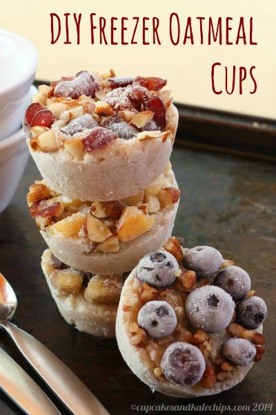 Freezer Oatmeal Cups / by Cupcakes and Kale Chips / Round up on Carrie Elle