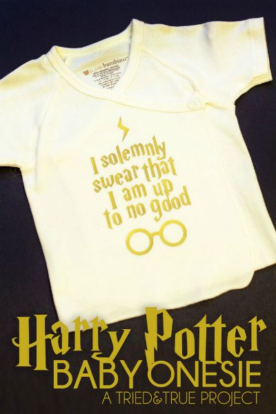 I Solemnly Swear Onesie from Tried and True Blog / Round up by Busy Mom's Helper
