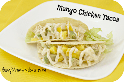 Mango Chicken Tacos by Busy Mom's Helper