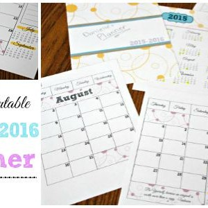 Free Printable 2015-2016 Planner / by Busy Mom's Helper / Free Printable Calendar
