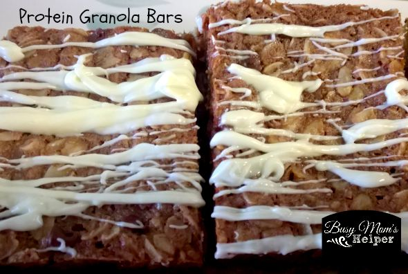Protein Granola Bars by Nikki Christiansen for Busy Mom's Helper