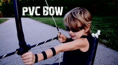 Hawkeye Costume / PVC Bow & Arrow / by Life Sprinkled with Glitter / Round up by Busy Mom's Helper
