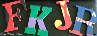 Avenger Letters / by Busy Mom's Helper