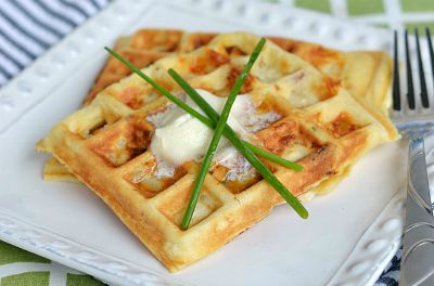 Bacon Potato Cheese Waffles / by Challenge Diary / Round up on Carrie Elle