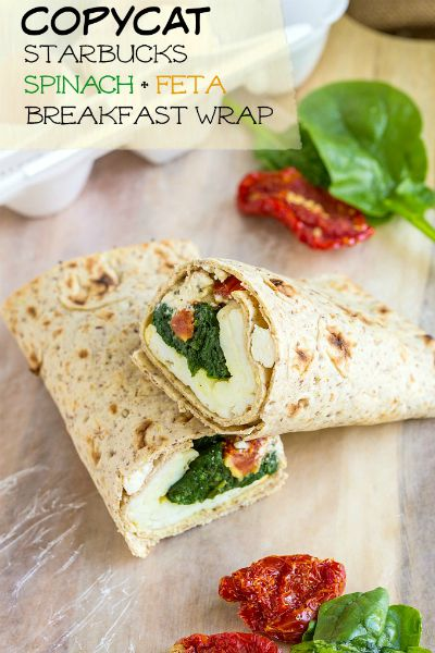 Copycat Starbucks Spinach & Feta Breakfast Wrap / by The Big Man's World / Round up on Carrie Elle