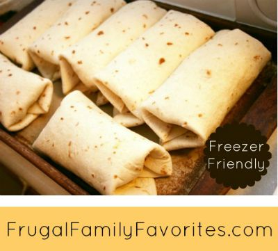 Easy Freezer Breakfast Burritos / from Frugal Family Favorites / Round up on Carrie Elle