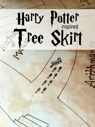 Harry Potter Inspired Tree Skirt / by Sowdering About / Round up by Busy Mom's Helper