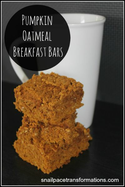 Pumpkin Oatmeal Breakfast Bars / by Snail Pace Transformations / Round up on Carrie Elle