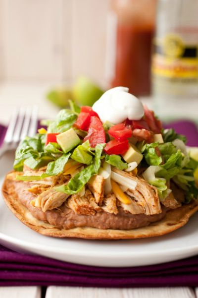 Chicken Tostadas / by Cooking Classy / Round up by Busy Mom's Helper