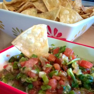 Fresh Salsa and Homemade Chips