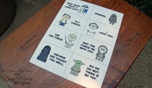 Printable Star Wars Lunch Box Notes   One Mama's Daily Drama for Busy Mom's Helper