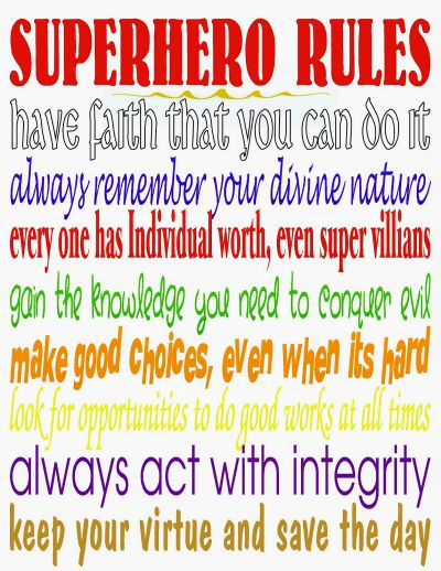 superhero rules / by Kandy Kreations / Round up by Busy Mom's Helper