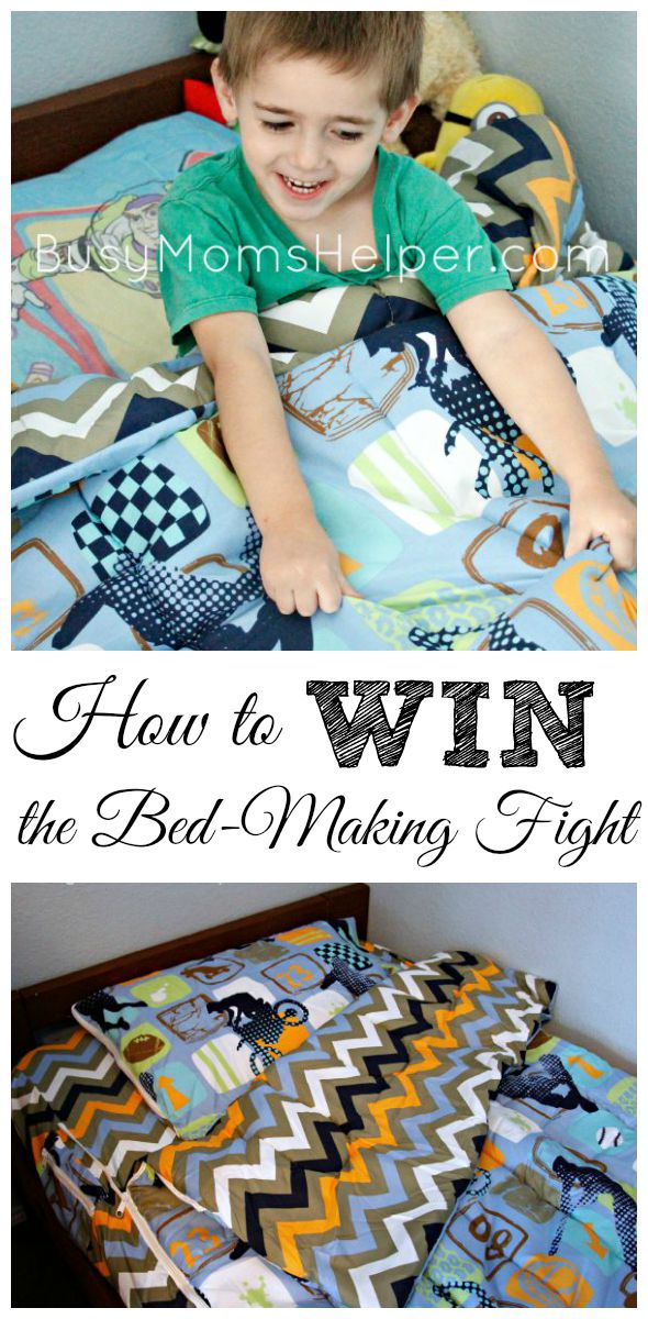 How to Win the Bed-Making Fight / by Busy Mom's Helper / Parenting Tips